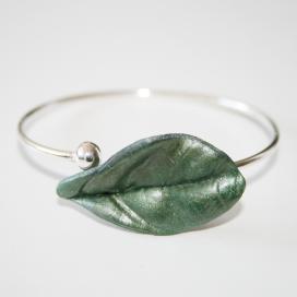 Pulsera Magic Leaves - silvery green