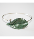 Pulsera Magic Leaves - silvery green