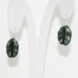 Pendientes Magic Leaves - silvery green