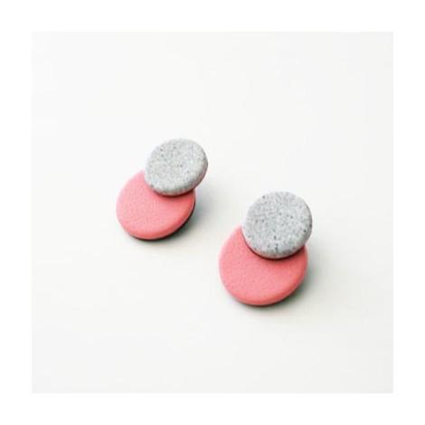 Pendientes Ceramic's. White and pink