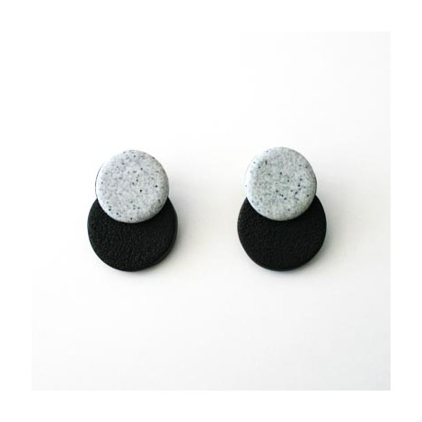 Pendientes Ceramic's. Black and white