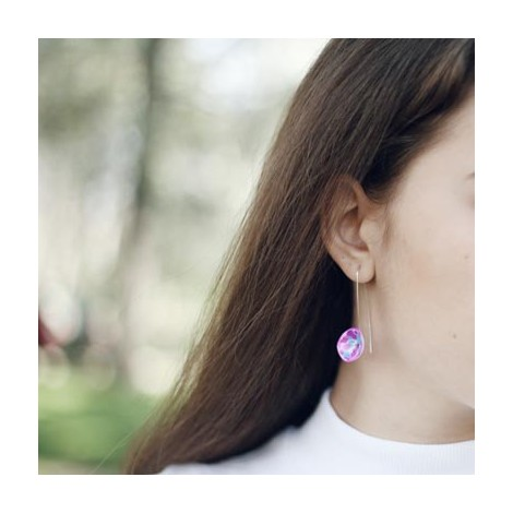 Pendientes Colors. Blue and pink