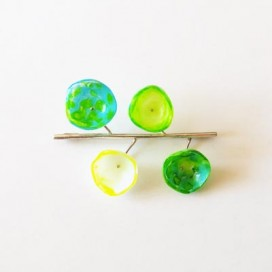 Broche Colección Colors. Green and blue