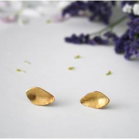 Pendientes Petals gold medianos